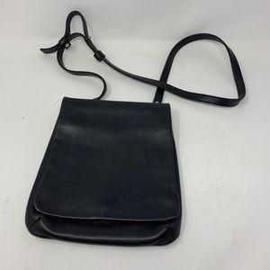 Coach Black leather messenger vtg shoulder bag
